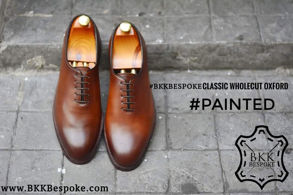 502-1 Painted Classic Wholecut Oxford