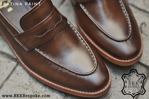 509 Penny Loafer Mocha Patina Paint