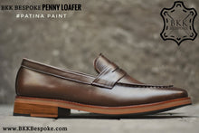 Load image into Gallery viewer, 509 Penny Loafer Mocha Patina Paint