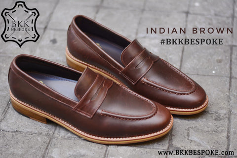 509 Penny Loafer Indian Brown x Wooden Base