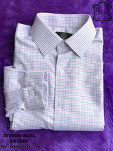 Load image into Gallery viewer, Pink-Blue Checkered Shirt - Gold Quality