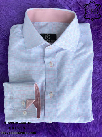 Pink-Blue Cube Shirt with Pink ICIC - Silver Quality