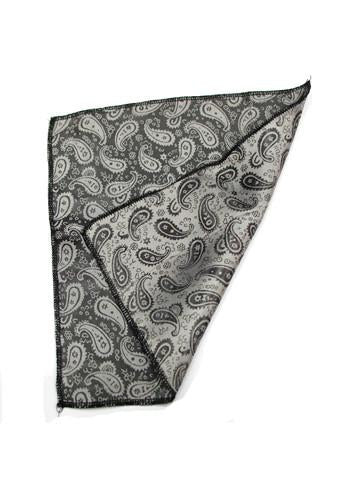 Black Silver Small Paisley