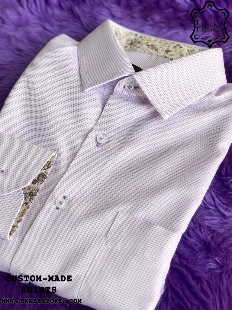 Purple Cube Dot Shirt with Purple Print ICIC - Silver Quality