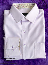 Load image into Gallery viewer, Purple Cube Dot Shirt with Purple Print ICIC - Silver Quality
