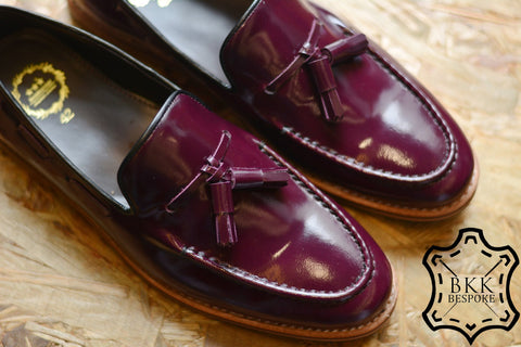 505 Tassel Loafer Purple - Wooden Sole