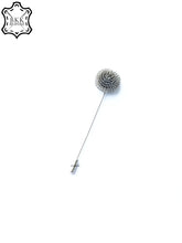 Load image into Gallery viewer, Silver Flower Lapel Pin