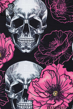 Load image into Gallery viewer, Printed Brown Skull Flowers Shirt + Lining Fabric