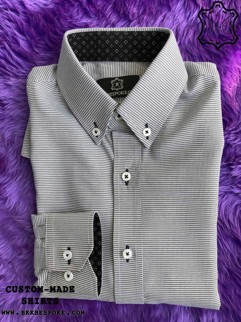 Black Zigzag Shirt with Print ICIC - Silver Quality