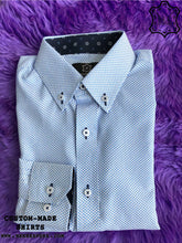 Load image into Gallery viewer, Square Blue Box Shirt with Print ICIC - Silver Quality