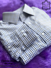 Load image into Gallery viewer, Triple Blue-Black Checkered Shirt - Gold Quality