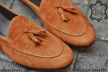 Load image into Gallery viewer, Belgian Loafer X Tassels Suede Whisky