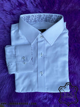 Load image into Gallery viewer, White Bird Eyes Self-Design Shirt - Printed ICIC - Silver Quality