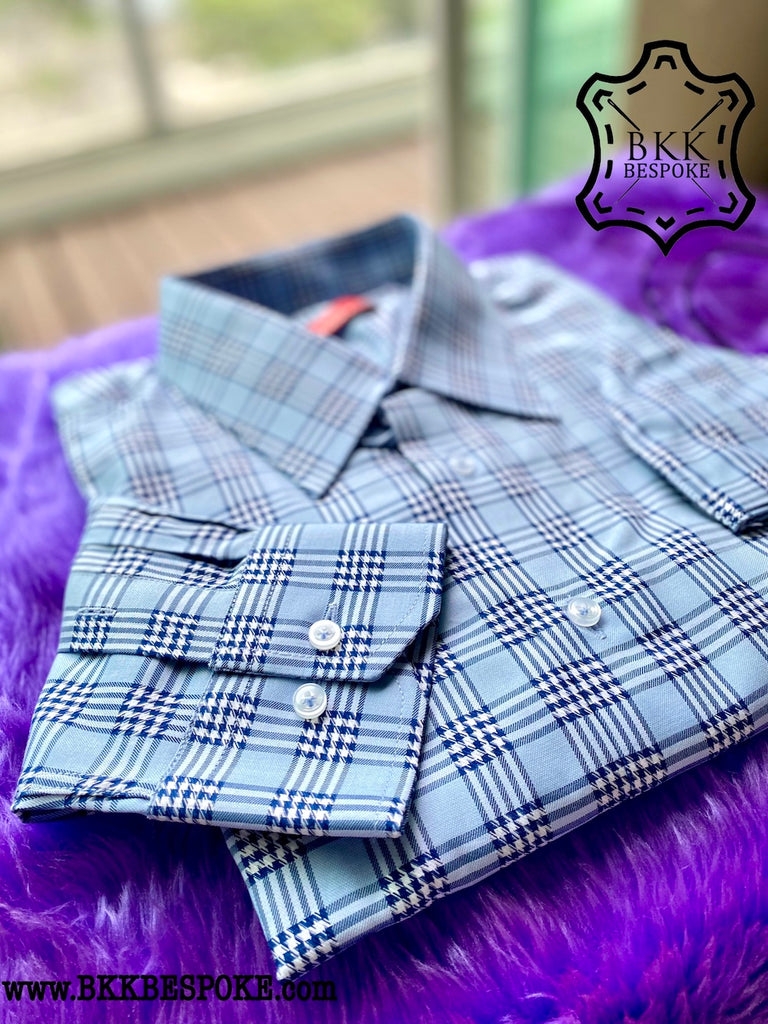The Houndstooth Blue Shirt