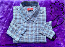 Load image into Gallery viewer, The Houndstooth Blue Shirt
