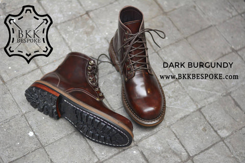 500 Derby Shoe - Burgundy - Hi-Cut
