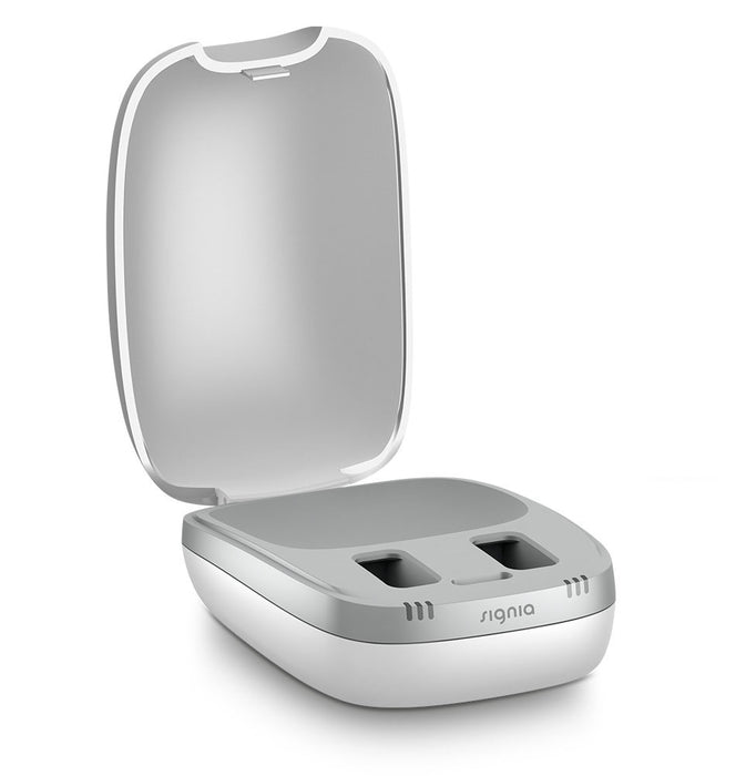 Signia  Siemens New Inductive Hearing Aid Charger Lid Open