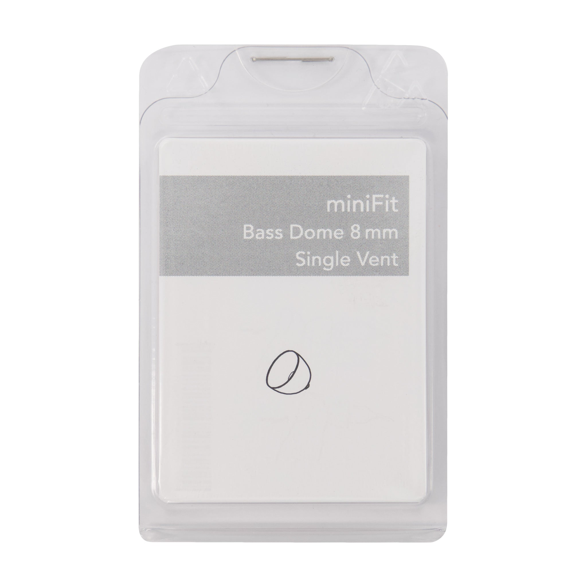miniFit Bass Dome 8mm Single Vent for Bernafon, Sonic and Phillips RITE Hearing Aids