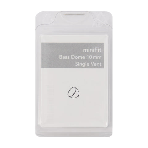 miniFit Bass Dome 10mm Single Vent for Bernafon, Sonic and Phillips RITE Hearing Aids