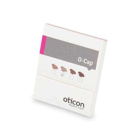 Oticon O Cap Mic Covers in Light Brown colour to be used with Oticon ITE and ITC hearing instruments