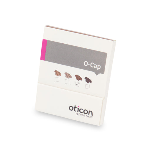 Oticon O Cap Mic Covers in Medium Brown colour to be used with Oticon ITE and ITC hearing instruments