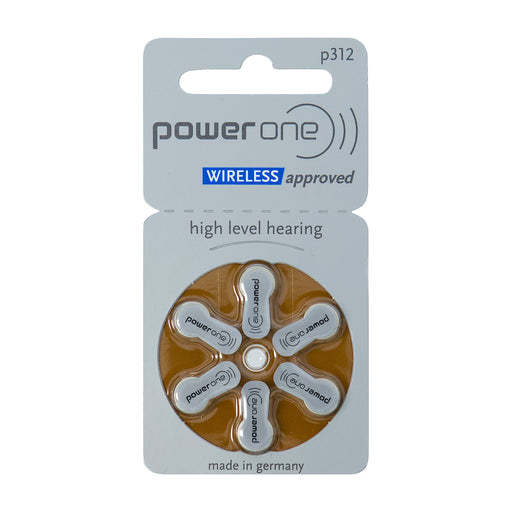 Power One p312 Wireless Approved Hearing Aid Battery