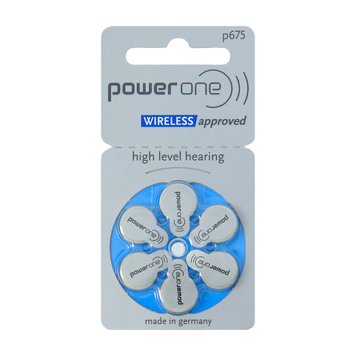 Power One p675 Wireless Approved Hearing Aid Battery