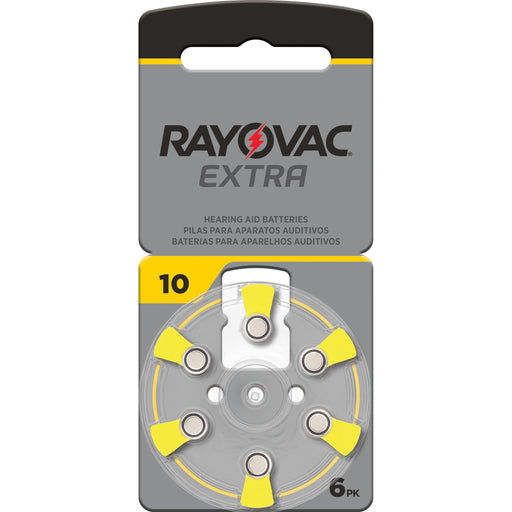 Rayovac Extra Advanced Size 10 Hearing Aid Batteries 6 Pack 2020 Packaging