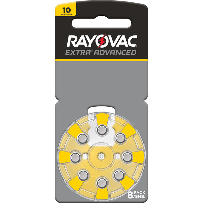 Rayovac Extra Advanced Size 10 Hearing Aid Batteries 8 Pack 2018 Packaging