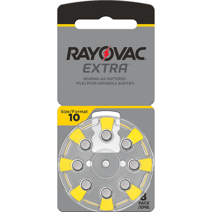 Rayovac Extra Advanced Size 10 Hearing Aid Batteries 8 Pack 2020 Packaging