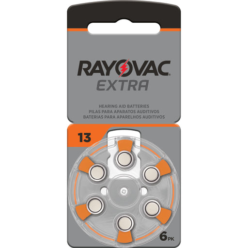 Rayovac Extra Advanced Size 13 Hearing Aid Batteries 6 Pack 2020 Packaging