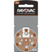 Rayovac Extra Advanced Size 312 Hearing Aid Batteries 6 Pack 2018 Packaging