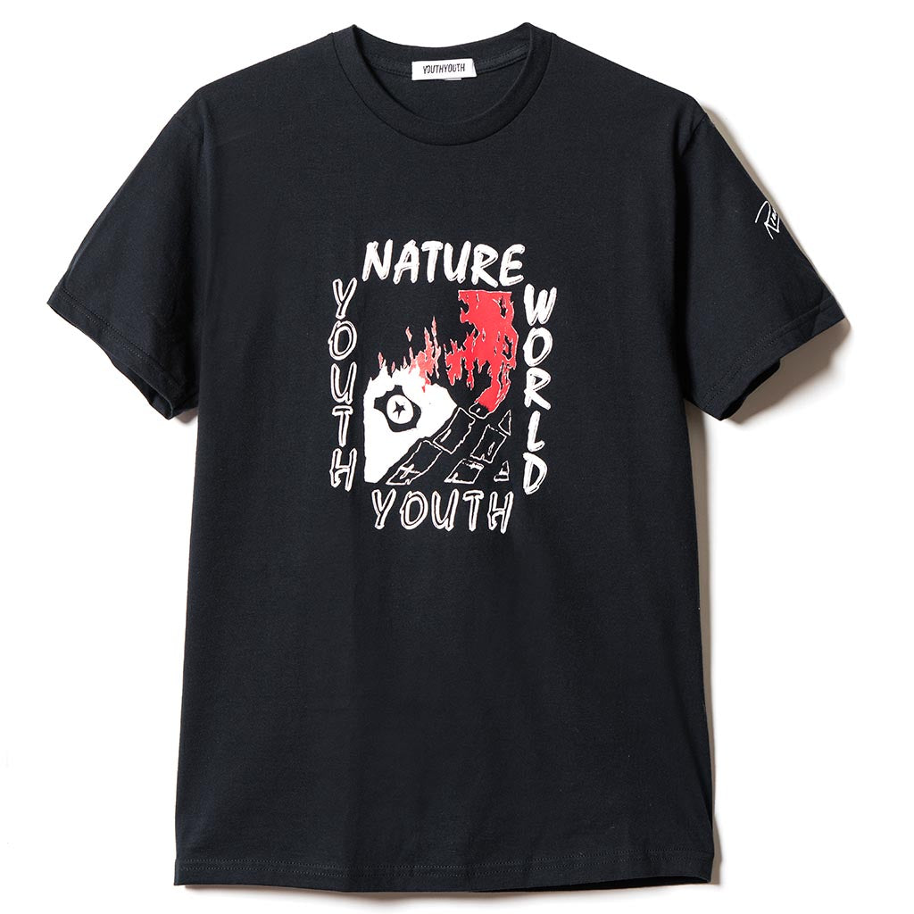 YOUTHYOUTH x NATURE WORLD by RIONISM Short Sleeve Tee - Black