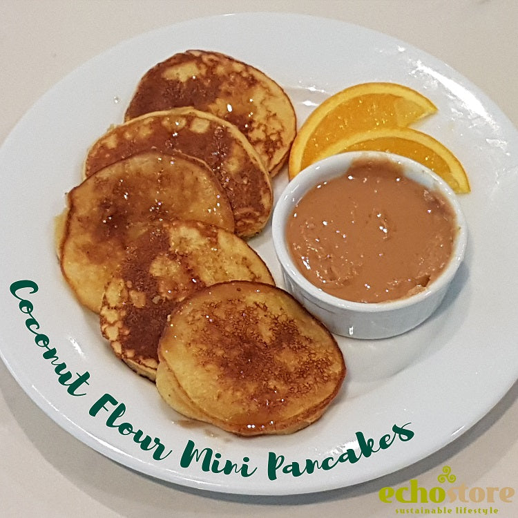 Coconut Flour Mini Pancake: Healthy Breakfast-in-Bed Surprise for Mom