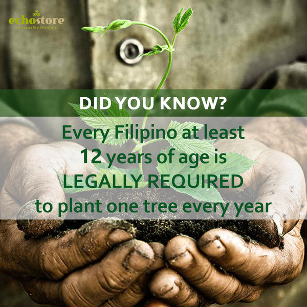 Earth Day Fun Fact: Law requires Filipinos 12 and up to plant trees