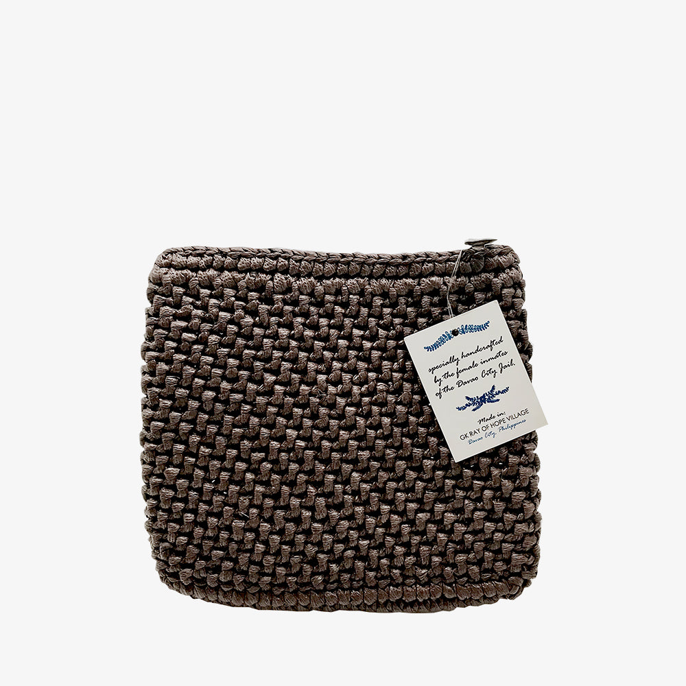 Davao Straw Pouch Brown