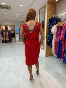 Olimara Red Detail Behind Dress