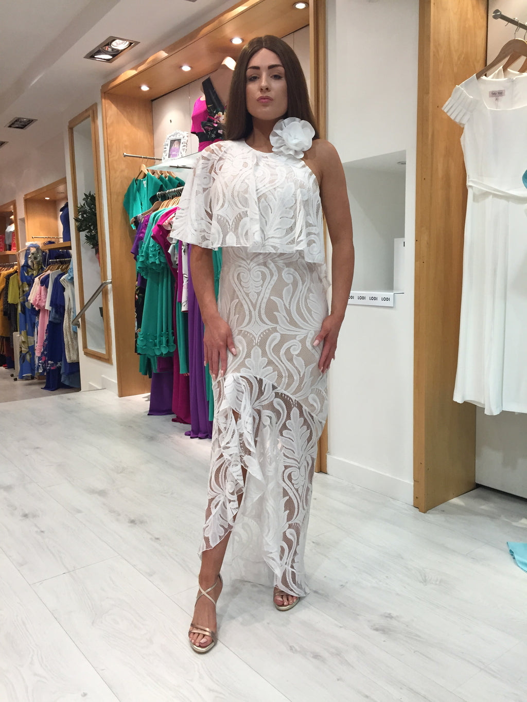 Forever Unique White Maxi Dress