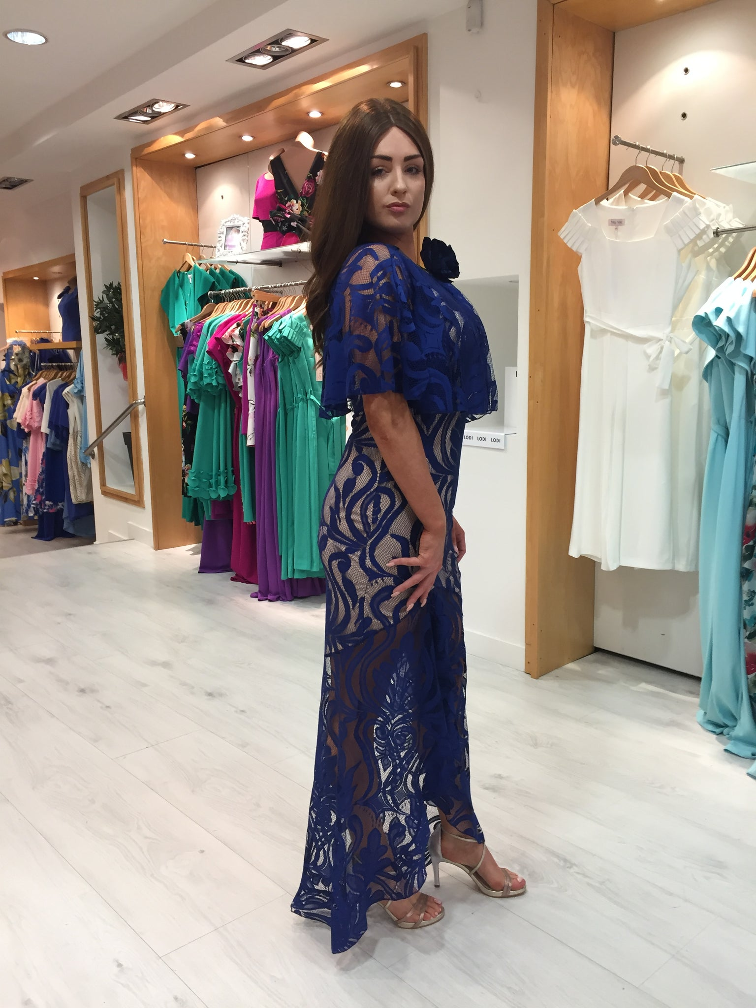Forever Unique Lace Maxi Dress