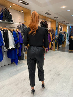 Manuela Riva Leather Look Trousers