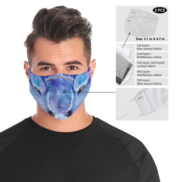 Unique Galaxy Wolf Face Mask