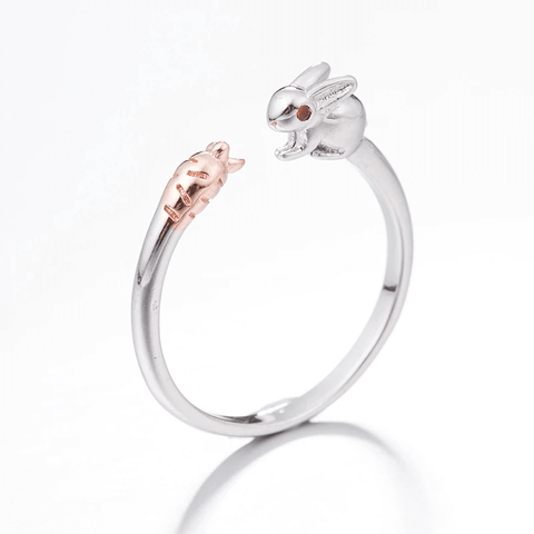 Adorable Exclusive Bunny and Carrot Ring