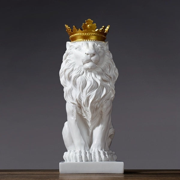 Abstract Lion Crown Sculpture