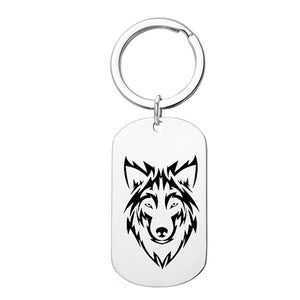 Unique Wolf Message Pendant Necklace and Keychain