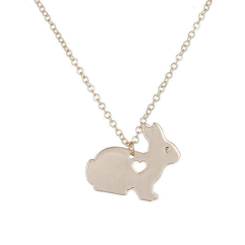 Bunny Heart Necklace-Animals Realm