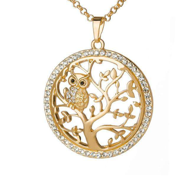 Luxurious Owl Necklace with Pendant - Animals Realm