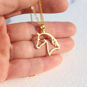 Simple Horse Head Necklace