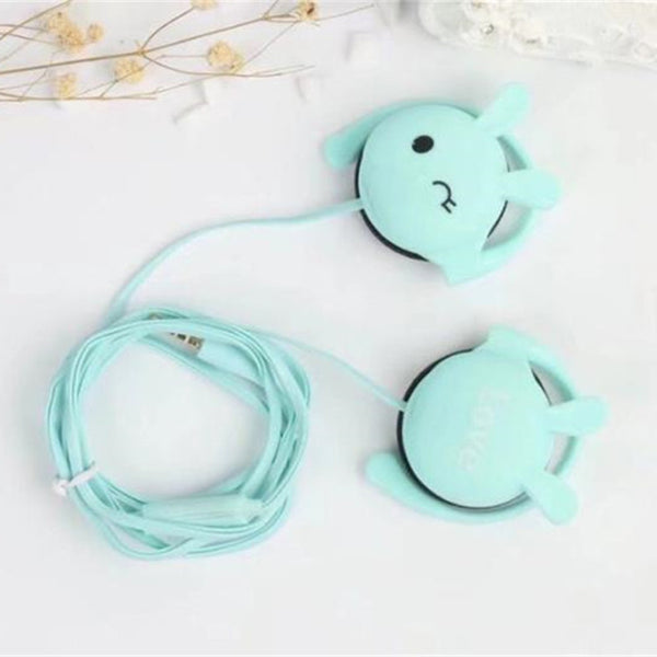 Adorable Bunny Cartoon Headphones
