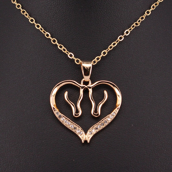 Gorgeous Horse Heart Necklaces