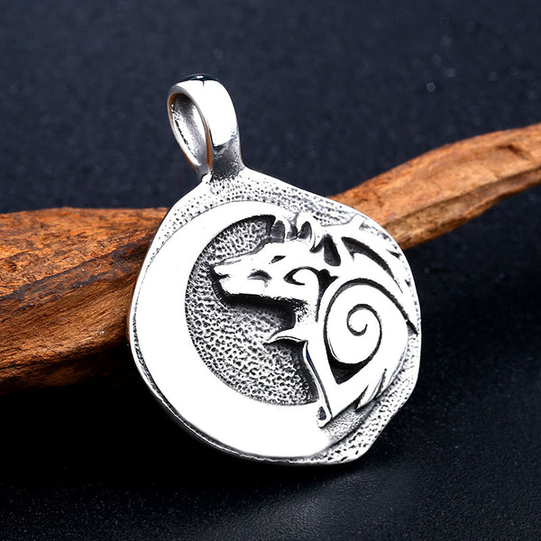Unique Wolf Moon Necklace